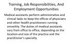 training job responsibilities and employment opportunities1
