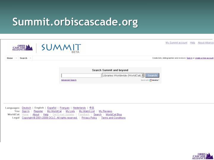 Summit.orbiscascade.org