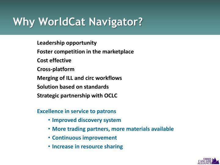 Why WorldCat Navigator?