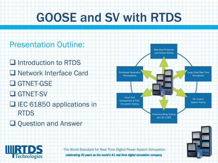 Goose and sv with rtds