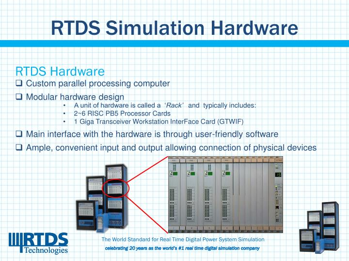 RTDS Simulation Hardware