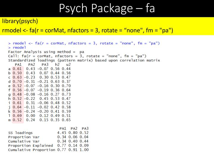 Psych Package –