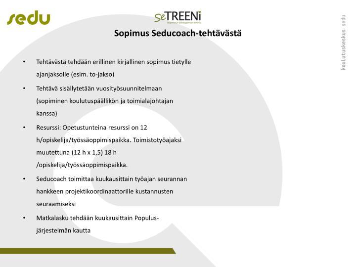 Sopimus Seducoach-tehtävästä