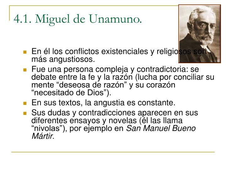 4.1. Miguel de Unamuno.