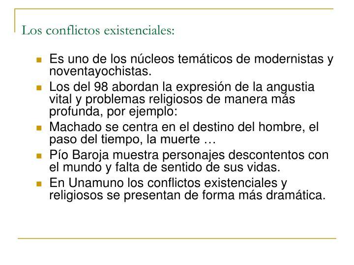 Los conflictos existenciales: