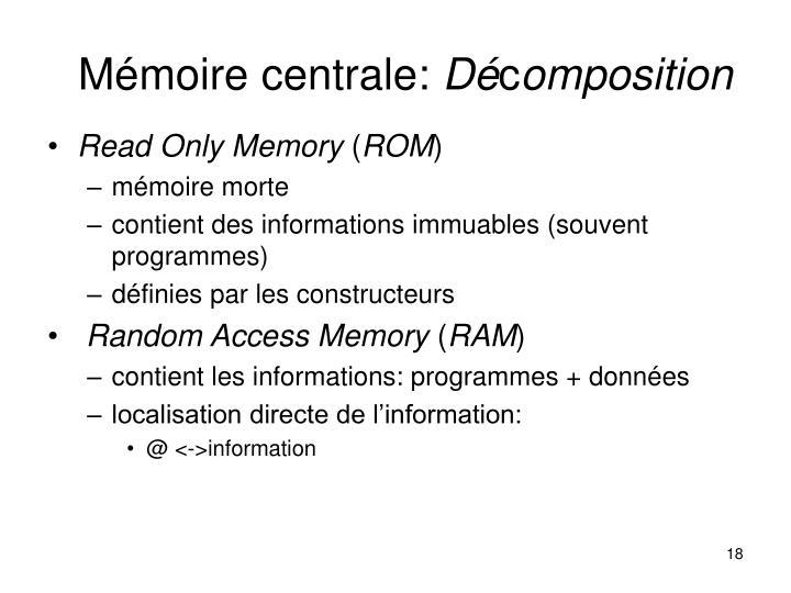 Mémoire centrale: