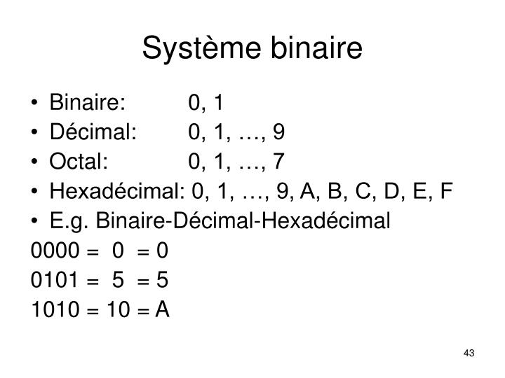 Système binaire