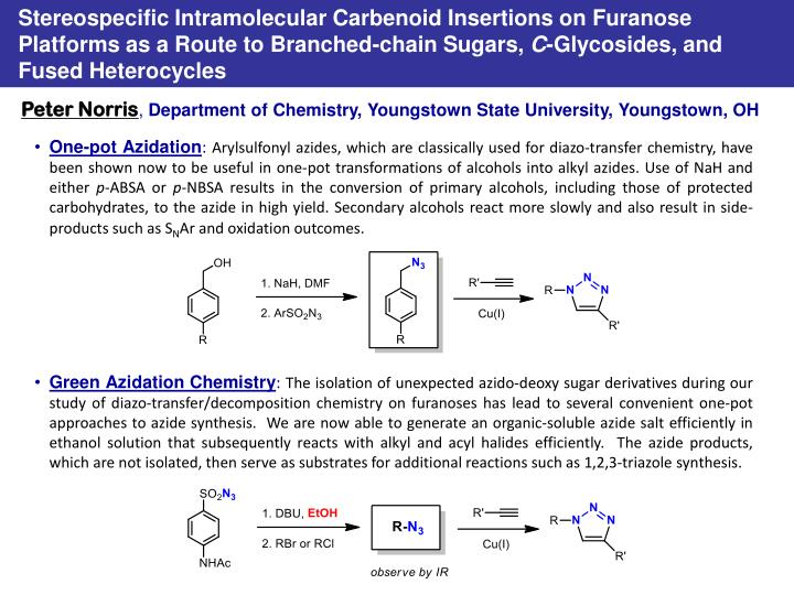 Stereospecific Intramolecular Carbenoid Insertions on Furanose Platforms as a Route to Branched-chai...