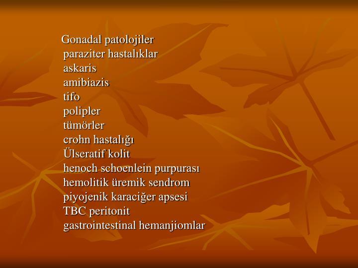 Gonadal patolojiler