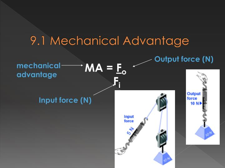 9.1 Mechanical Advantage