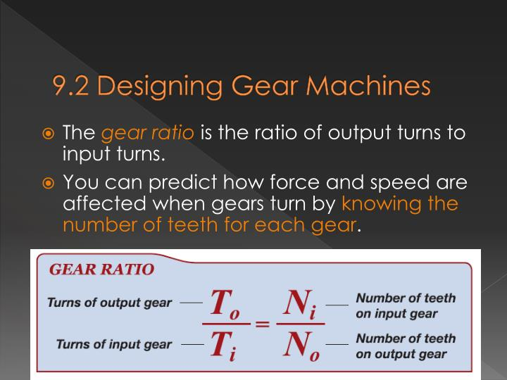 9.2 Designing Gear Machines