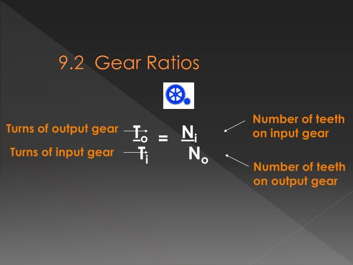 9.2  Gear Ratios