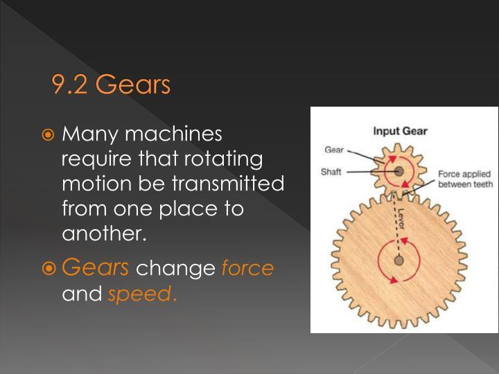 9.2 Gears