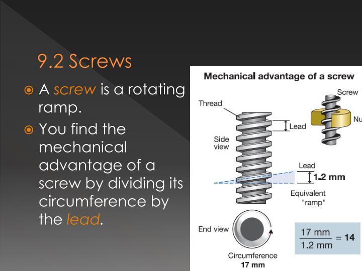 9.2 Screws