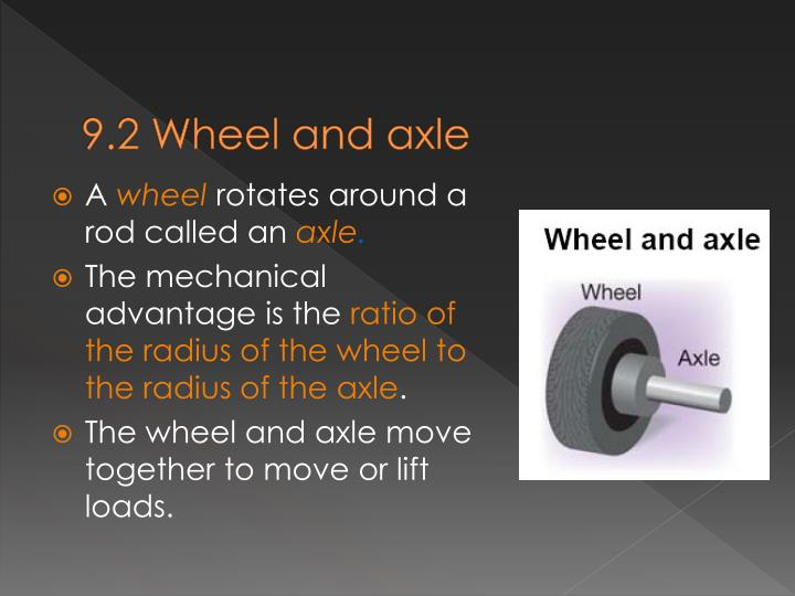 9.2 Wheel and axle