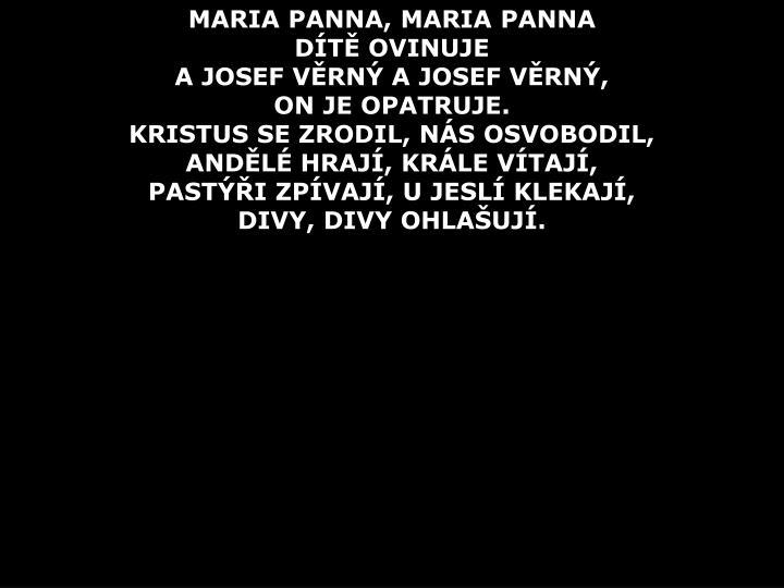 MARIA PANNA, MARIA PANNA