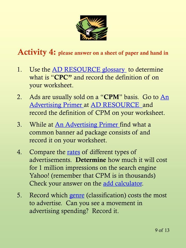 Activity 4: