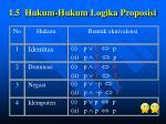 1 5 hukum hukum logika proposisi
