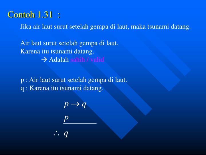 Contoh 1.31  :