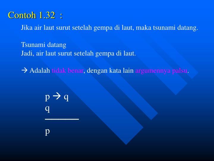 Contoh 1.32  :
