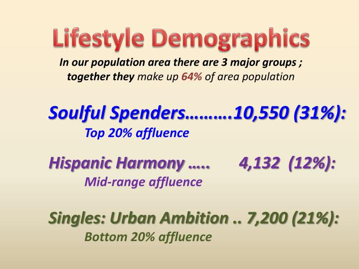 Lifestyle Demographics
