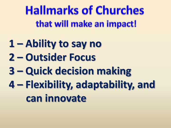 Hallmarks of Churches