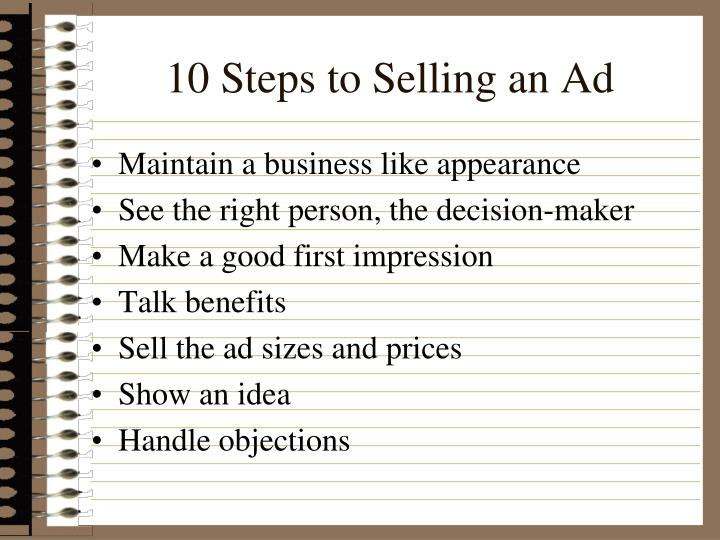 10 Steps to Selling an Ad