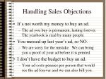 handling sales objections