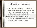 objections continued1