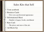 sales kits that sell