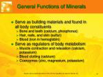 general functions of minerals