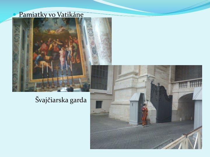 Pamiatky vo Vatikne