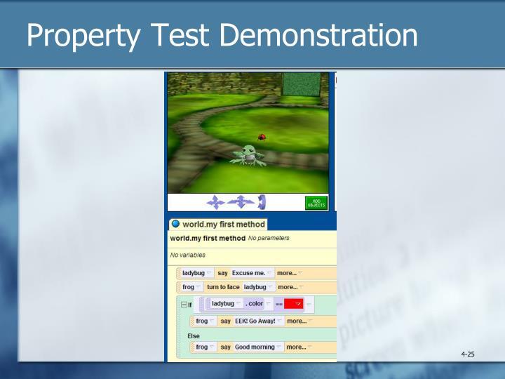 Property Test Demonstration