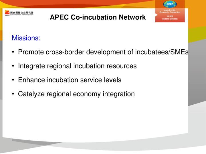 APEC Co-incubation Network