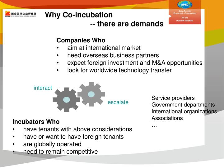 Why Co-incubation