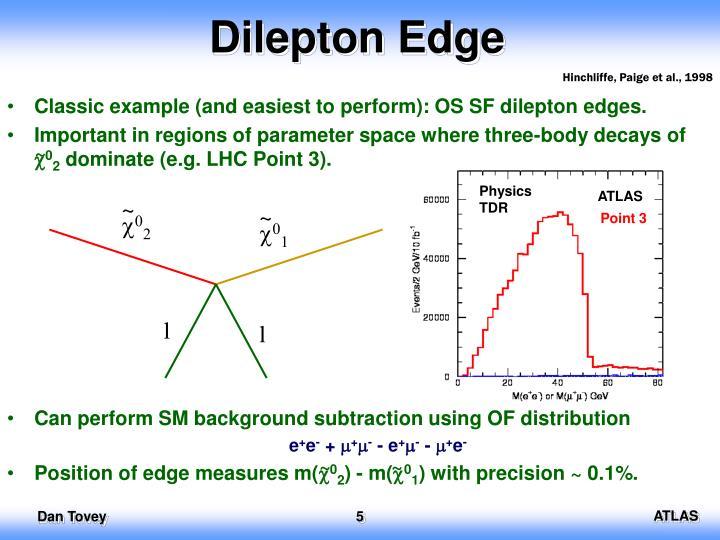 Dilepton Edge