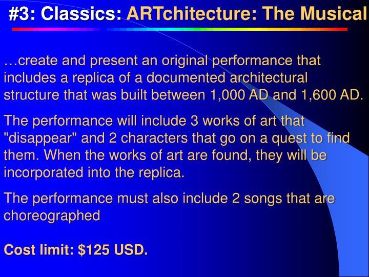 #3: Classics: