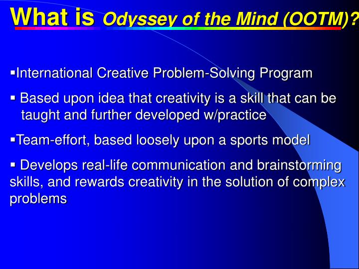 What is Odyssey of the Mind (OOTM)?