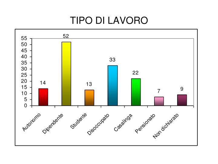 TIPO DI LAVORO