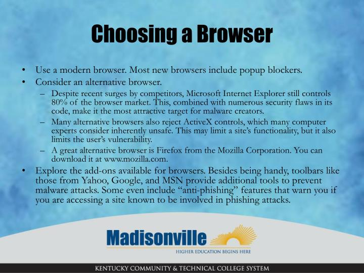 Choosing a Browser