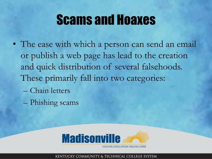 Scams and hoaxes