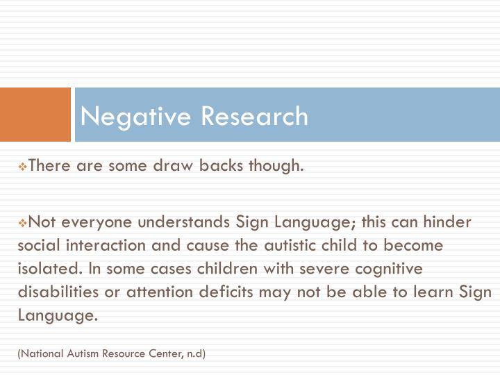 Negative Research