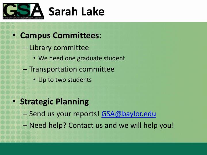 Sarah Lake