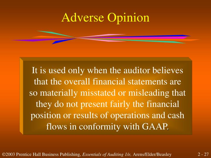 Adverse Opinion