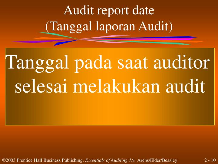 Audit report date