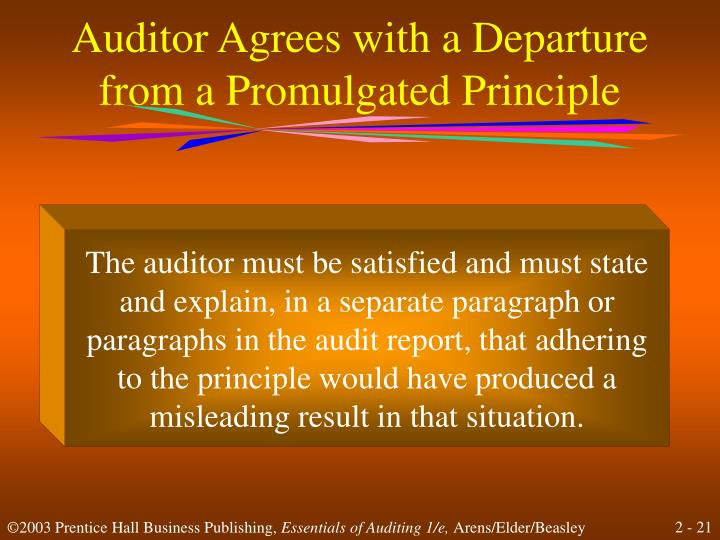 Auditor Agrees with a Departure