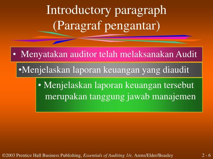Menyatakan auditor telah melaksanakan Audit