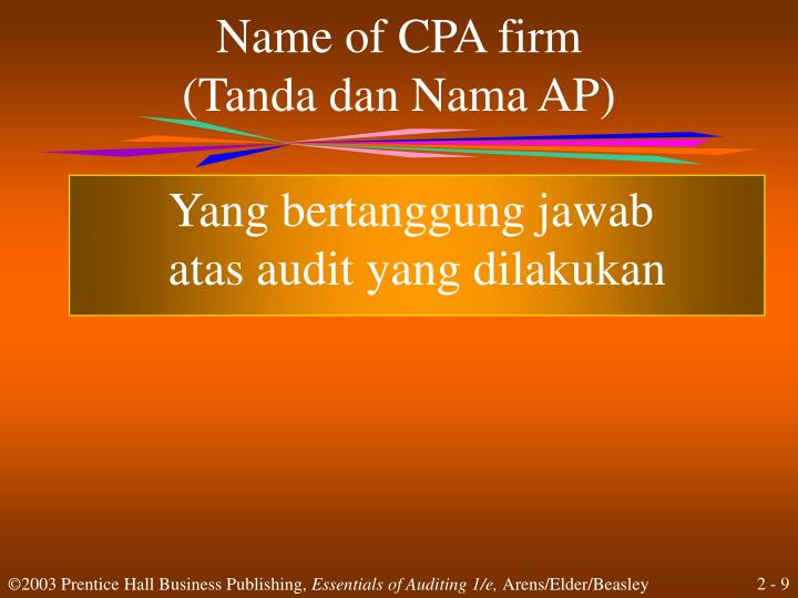 Name of CPA firm
