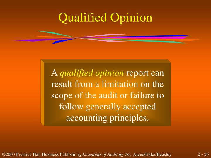 Qualified Opinion
