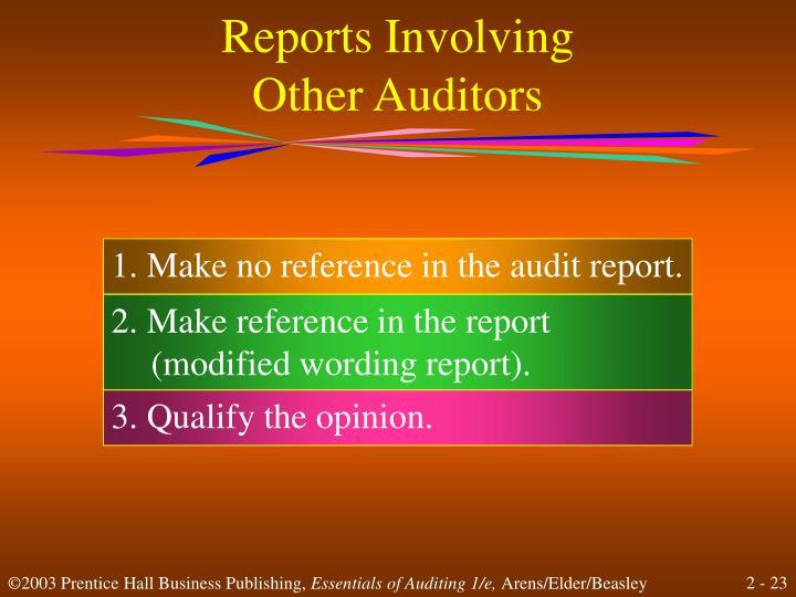 Reports Involving